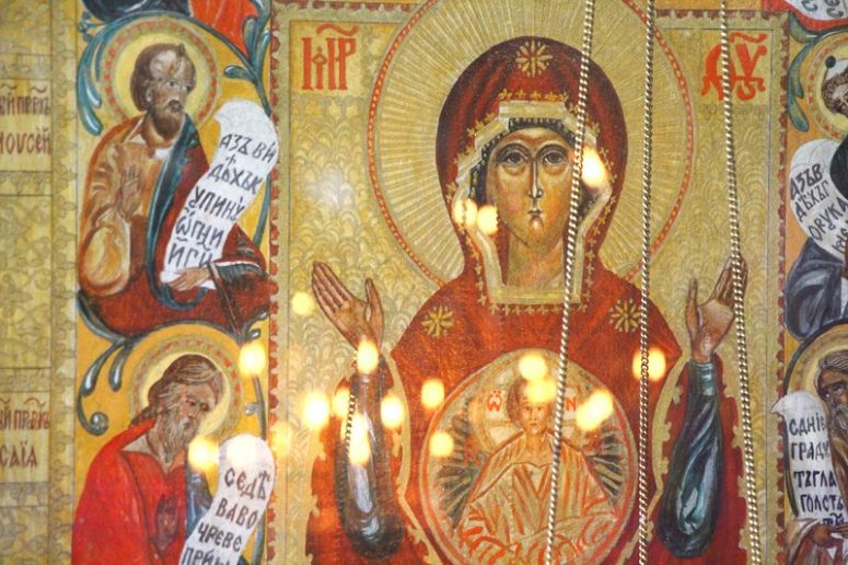 Theotokos of the Sign: the Explanation of the Icon - The Catalog of Good  Deeds